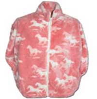 Black Mountain Pink Horses Plush Fleece Jacket Child