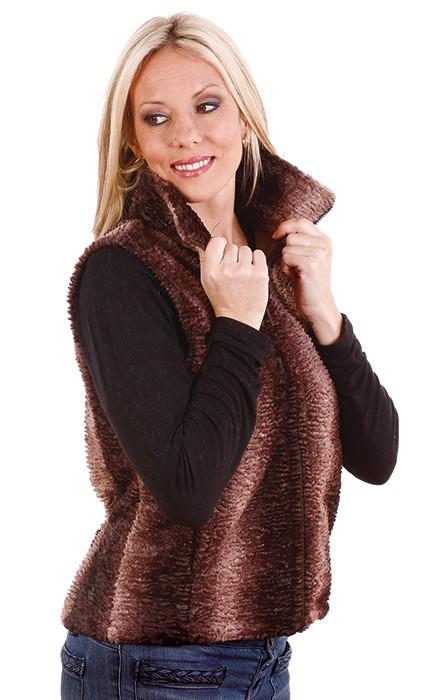 Andrea Faye Regina Adult Boa Cinchback Vest (XS-2X)