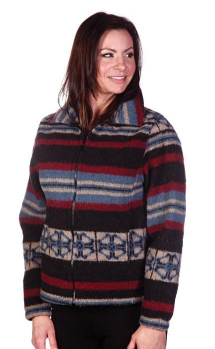 Sale San Pablo Looped Wool Cinchback Southwestern Jacket by Bear Ridge Outfitters