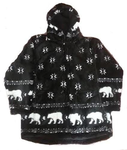 Snowflakes & Polar Bears Plush Fleece Jacket with Hood (Sm, Md)