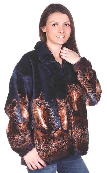 Starlight Horses Plush Fleece Jacket Adult (XS - 5X)