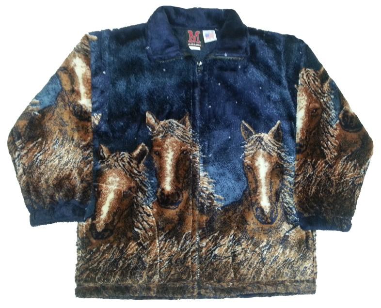 Starlight Horses Boys Girls Plush Fleece Child Jacket Kids & Junior Size