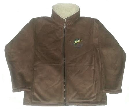 Clearance Sale Largemouth Bass Microsuede Jacket Adult (Tan 2X)