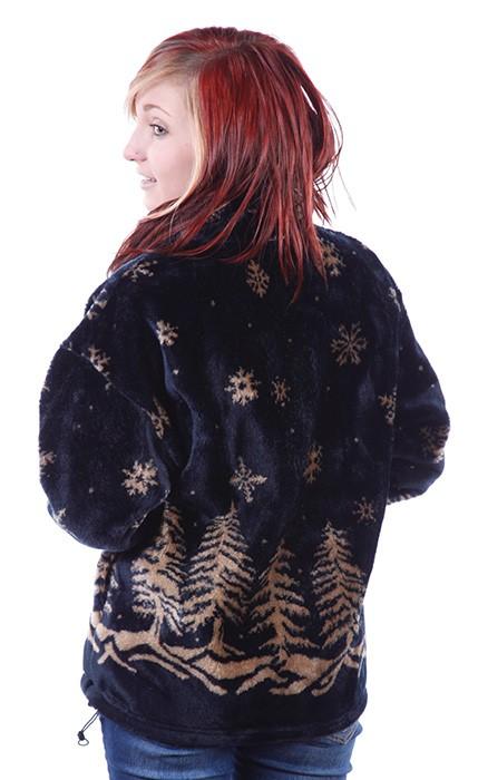 Twilight Snowflakes Microplush Fleece Jacket Adult (XS - 5X)