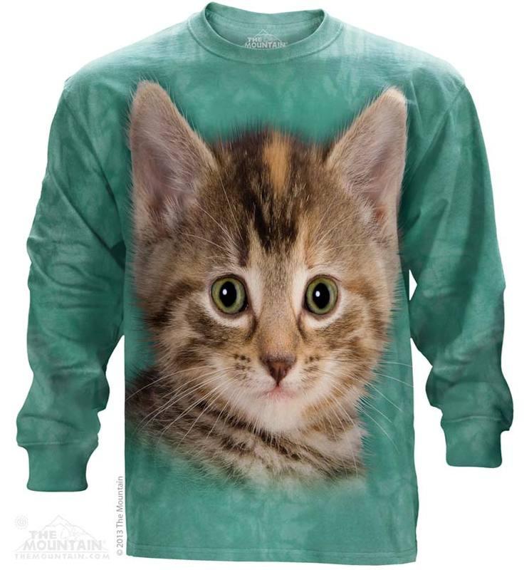 The Mountain Tyler The Kitten Long Sleeve Cat Face T-Shirt (LG - 2X)
