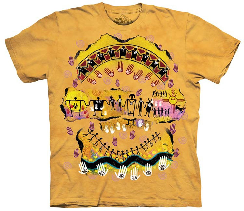 We Are All Related Native American T-Shirt The Mountain (Sm - 2x)