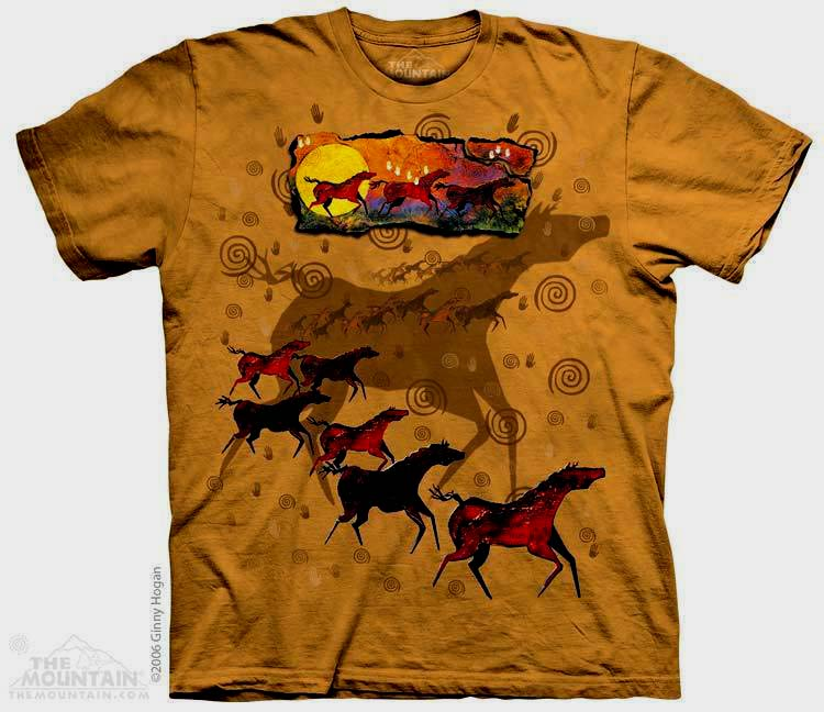 The Mountain Wild Red Horses Short Sleeve T-Shirt (Sm - 3x)