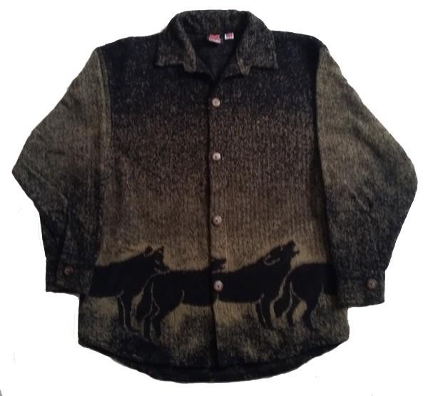 Howling Wolves Midweight Fleece Button Jacket Adult (Sm - 2x)