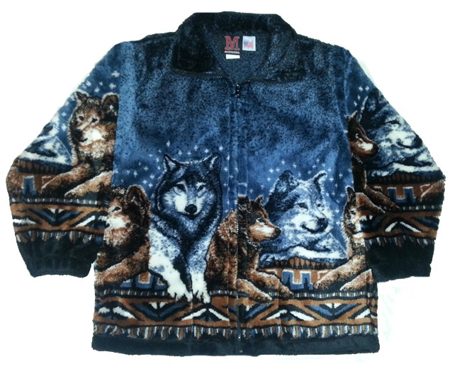 Wolf Pack Boys Girls Plush Fleece Child Jacket Kids & Junior Size