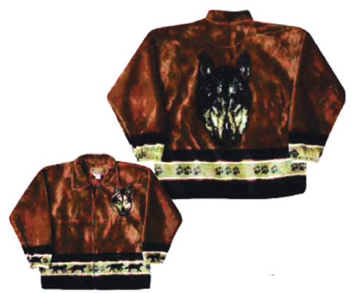 Bear Ridge Outfitters Wolf Spirit Plush Fleece Wolves Jacket Adult (Xs - 2x)