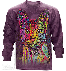 The Mountain Abyssinian Cat Dean Russo Kitten Long Sleeve T Shirt (Md, 3x)