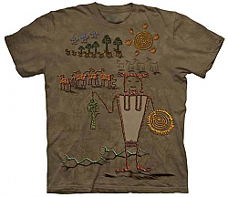 The Mountain Bringer of Bounty Native American Short Sleeve T-Shirt (Sm - 3x)