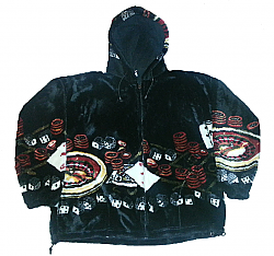 Clearance Casino Gambling Roulette Blackjack Hooded Plush Fleece Jacket w Hood (SM - 2X)