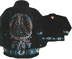 Dream Catcher Native American Plush Fleece Jacket Adult (Sm - 2X)