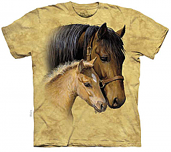 The Mountain Gentle Touch Short Sleeve Mare & Foal Horse Print T-Shirt (Sm - 3x)
