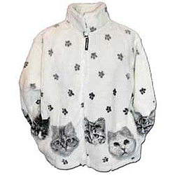 Black Mountain Kittens Plush Fleece Cat Print Jacket - (Xs - 3x)