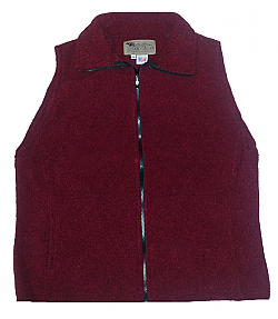 Clearance Sale Red Looped Wool Fleece Cinchback Vest