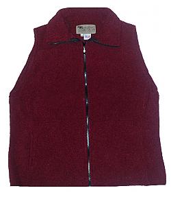 Clearance Sale Red Looped Wool Fleece Cinchback Vest
