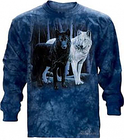 The Mountain Wolf Harmony Long Sleeve Tee Shirt (3x)
