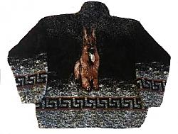 German Shepherd Plush Fleece Jacket Adult - Large (last one)