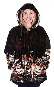Nights Meow Kittens Hooded Plush Fleece Cat Jacket with Hood (Xs - 2x)