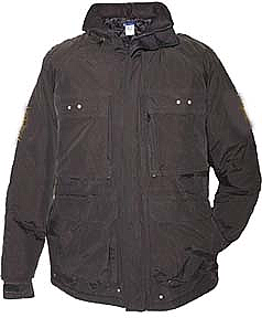 Arctic Armor Hidden Hood Jacket Black Snowmobile Floating Ice Fishing (Md, Lg)