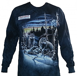 The Mountain Find 13 Wolves Hidden Wolf Image Long Sleeve T-Shirt (Med)