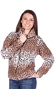 Cheetah Looped Wool Cinchback Ladies Jacket by Bear Ridge