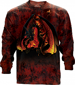 The Mountain Fireball Dragon Long Sleeve T-Shirt (Sm - Xl)