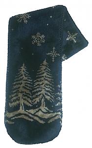 Twilight Snowflakes Plush Fleece Scarf