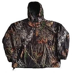 Clearance Sale Mossy Oak 1/2 Zip Pullover Windproof Waterproof Jacket by IDI Gear (Sm - 2x)