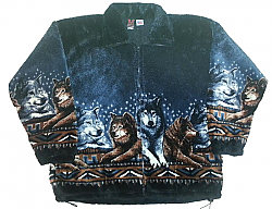 Wolf Pack Plush Fleece Jacket Adult (XS-5X)