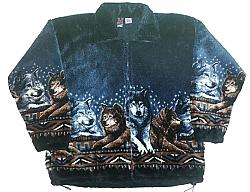 Wolf Pack Plush Fleece Jacket Adult (XS-5X)