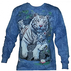 The Mountain White Tigers of Bengal Big Cat Long Sleeve T-Shirt (Md - 2x)