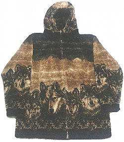 Wolf Tracks Ultra Plush Fleece Hooded Jacket (Sm, Med, Large)
