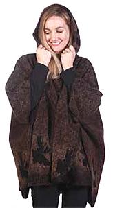 Bear Ridge Moose Washable Looped Wool Hooded Cape