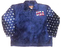 Freedom USA American Flag Plush Fleece Jacket Adult (Md - 3x)