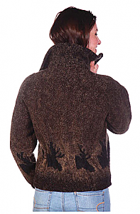 Clearance Moose Looped Wool Ladies Cinchback Jacket by Bear Ridge Outfitters Made in USA