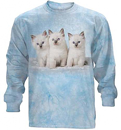 The Mountain Cloud Kittens Long Sleeve Cat Tee Shirt (Lg)