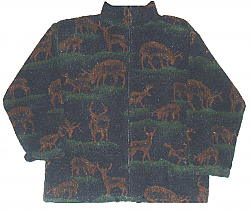 Deer Whitetail Berber Fleece Jacket Adult (Small - 2X)
