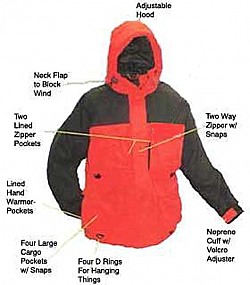 Arctic Armor Floating Extreme Weather Jacket Red (XXS - 3X)