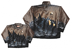 Moonlight Bear Plush Fleece Jacket Adult (Xs - 2X)