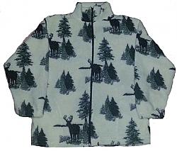 Clearance White Deer Berber Fleece Jacket Adult (Med)