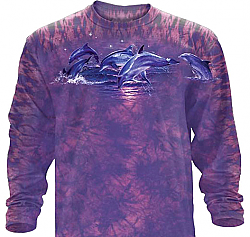 "The Mountain ""Midnight Quest"" Dolphin Long Sleeve T-Shirt"