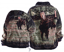 Bear Ridge Outfitters Moose Plush Fleece Jacket Adult (XS - 2X)