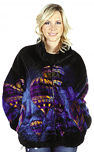 Hot Air Balloon Plush Fleece Jacket Adult (Xs, Sm)