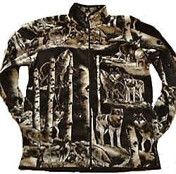 Reversible Timber Wolf Jacket with Wolves (Sm - 3x)