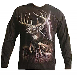 "The Mountain ""Lightning Deer"" Whitetail Long Sleeve T-Shirt"