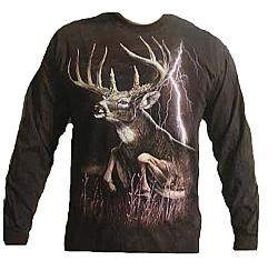 "The Mountain ""Lightning Deer"" Whitetail Long Sleeve T-Shirt"