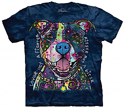 Kisser not a Biter Lover not a Fighter Pit Bull Dog Tee Shirt Dean Russo The Mountain